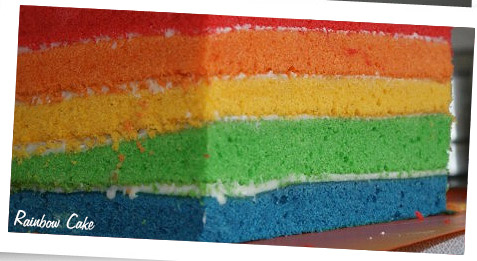 Rainbow Tray Bake Rainbow Cake Baking With The