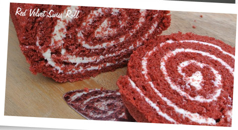 Red velvet swiss roll - Baking with the Pink Whisk