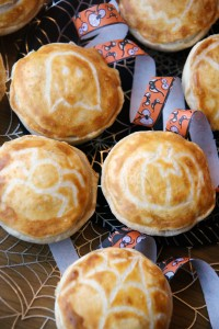 Halloween Chicken Bacon and Leek Pies