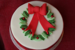 Holly Wreath Cake
