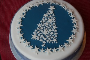 Stars and Sparkle Christmas Tree Cake