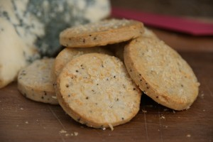 Parmesan and Poppy Seed Crackers