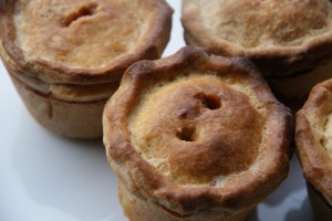 Pork Pie with Cranberry Jelly