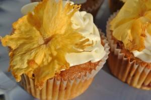 Pineapple and Raspberry Cupcakes