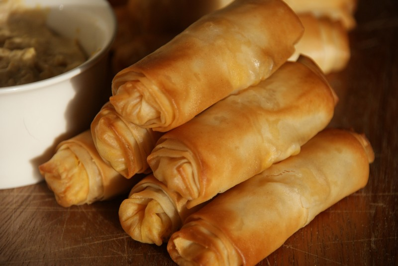 Day 10 Carrot And Houmous Filo Rolls Baking Recipes Tutorials The Pink Whisk