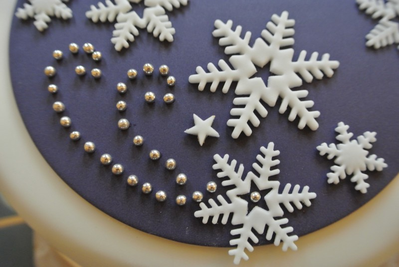 Purple & Snowflakes Christmas Cake Baking, Recipes and ...