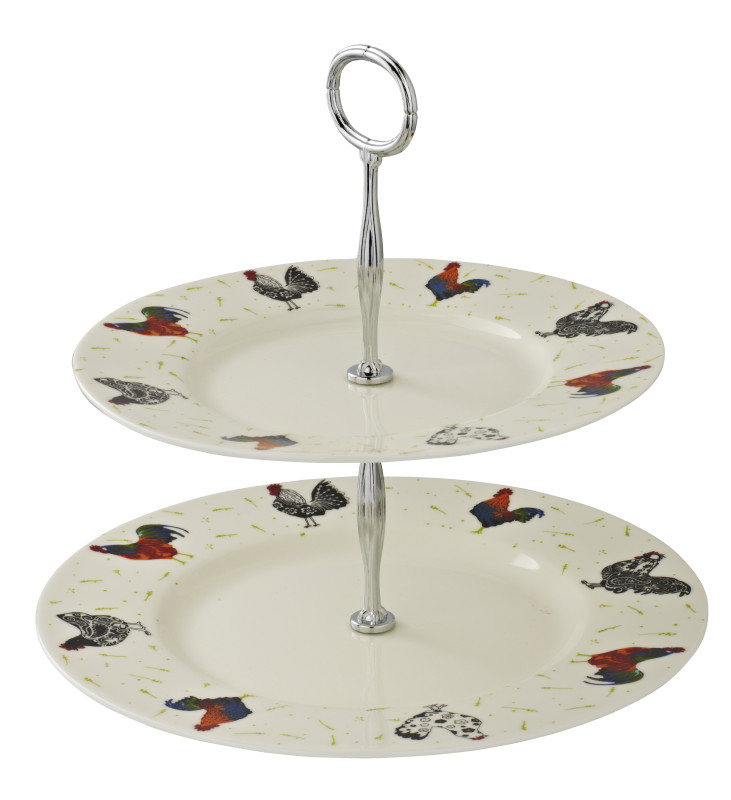 Rooster Cake Stand