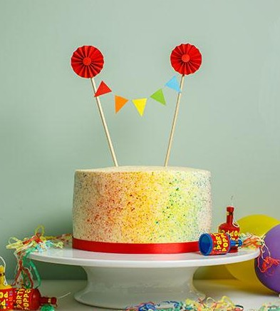 Rainbow Speckled Cake