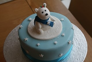 Snowy Polar Bear Cake