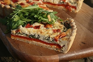 Roasted Red Pepper Tart