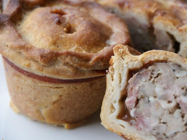 Pork Pie with Cranberry Jelly